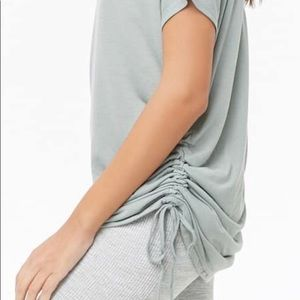 Forever 21 Active Ruch Yoga Top Grey Size L